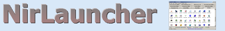 NirLauncher - Collection of more than 200 portable ...
